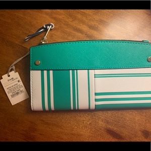 NWT Navy and Teal Wallet